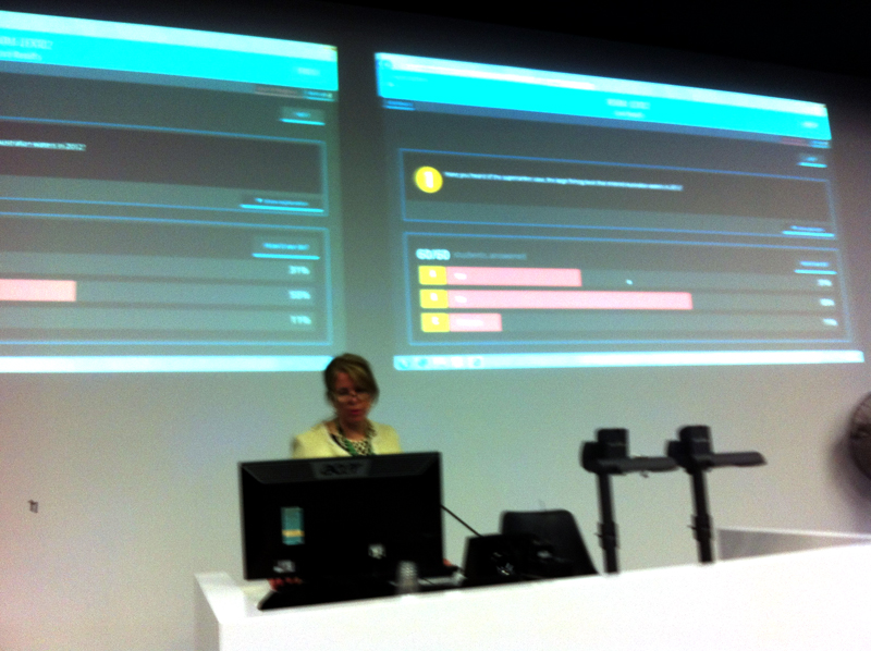 """""""use of in-class polling in lecture"""" by Chris Froissard ©2015 Macquarie University"""