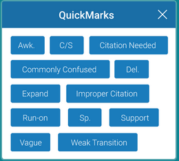 """Feedback Studio - QuickMarks"" by ; Open licence (Free use permitted)"