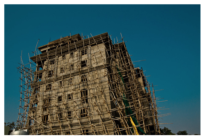 """bamboo scaffoldingbamboo scaffolding"" by The Rohit ©2016"