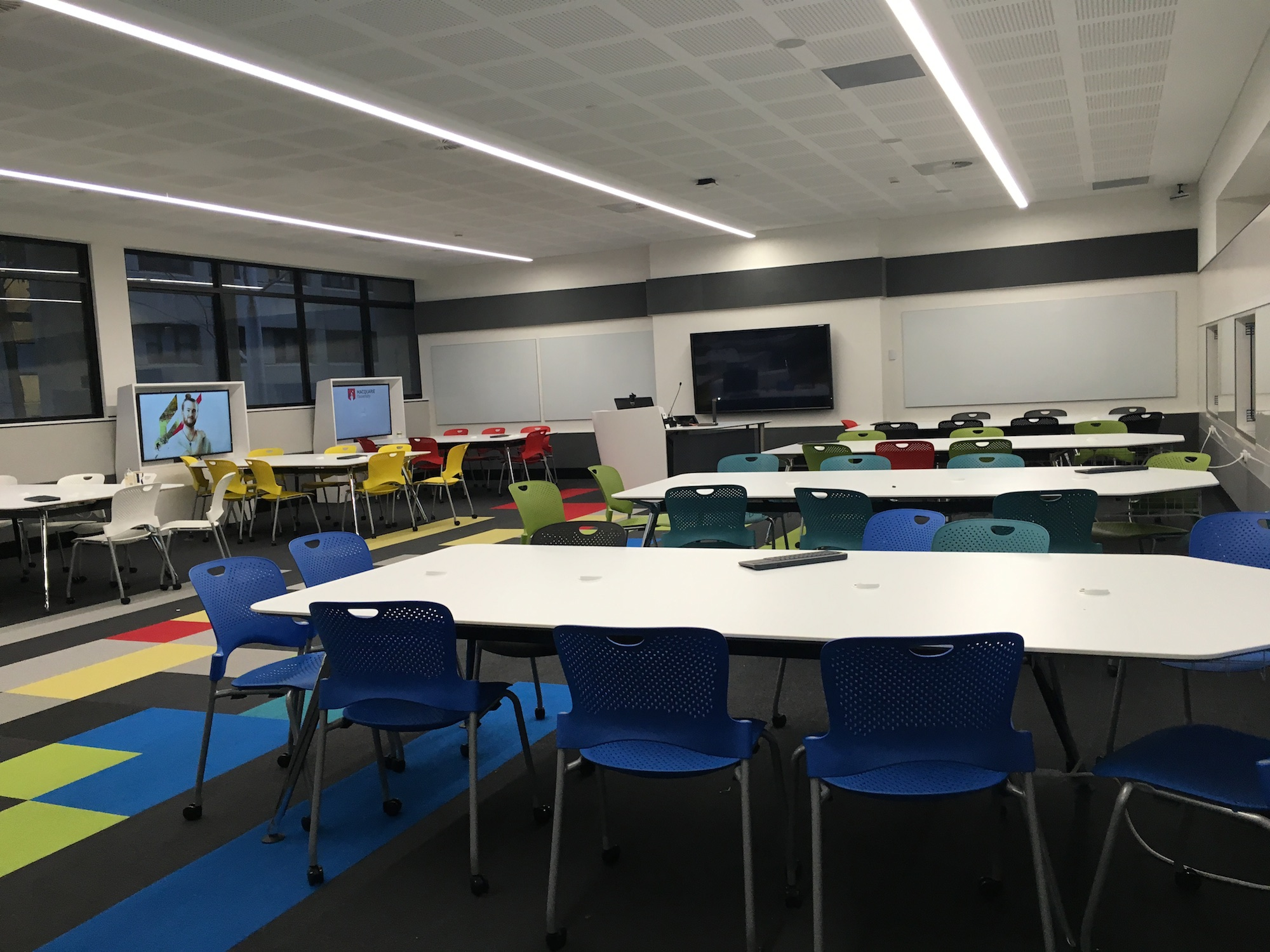 C5A 430 learning space set up for groups