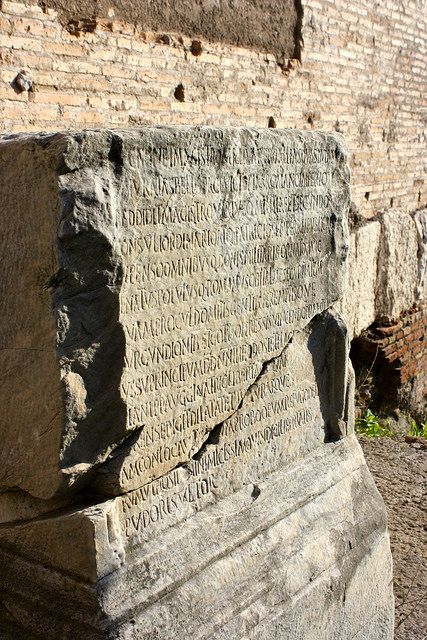 """""""Engravings at the Roman forum"""" by Trevor Huxham 2013 CC BY-NC-ND 2.0"""